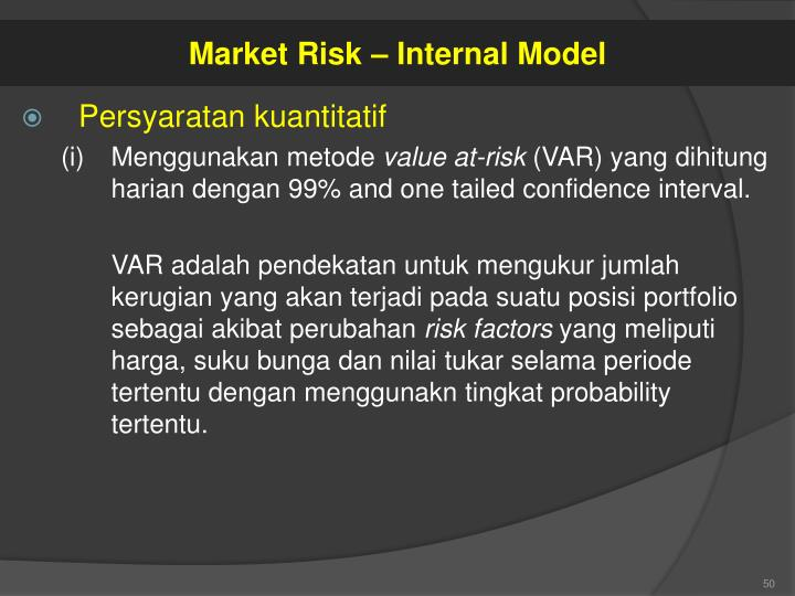 Market Risk – Internal Model