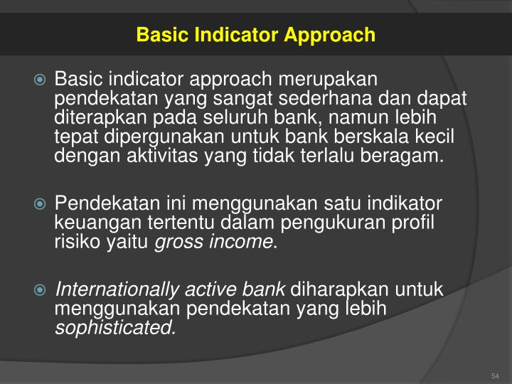 Basic Indicator Approach
