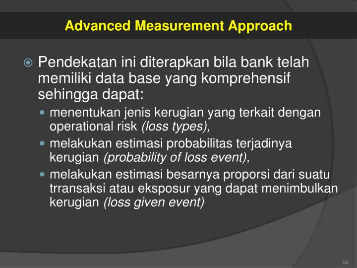 Advanced Measurement Approach