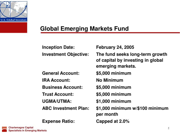 Global emerging markets fund