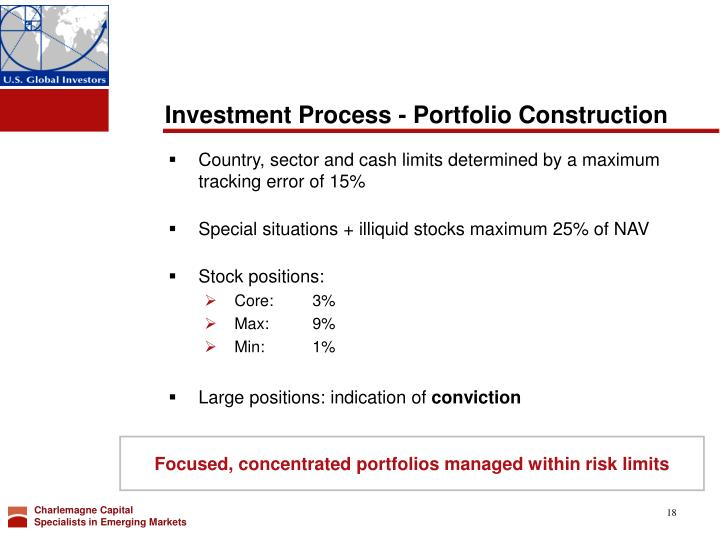Investment Process - Portfolio Construction