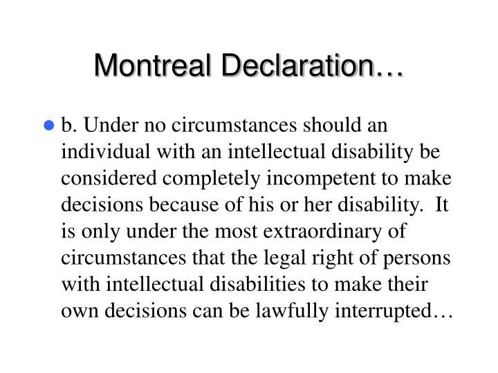 Montreal Declaration…