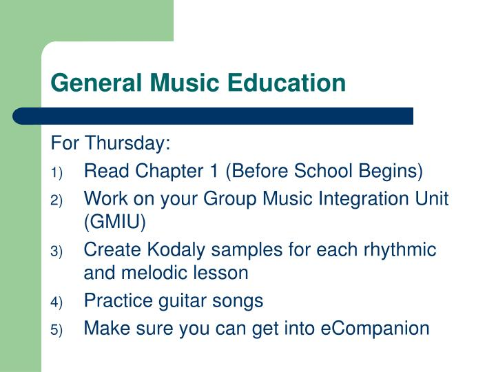 General Music Education