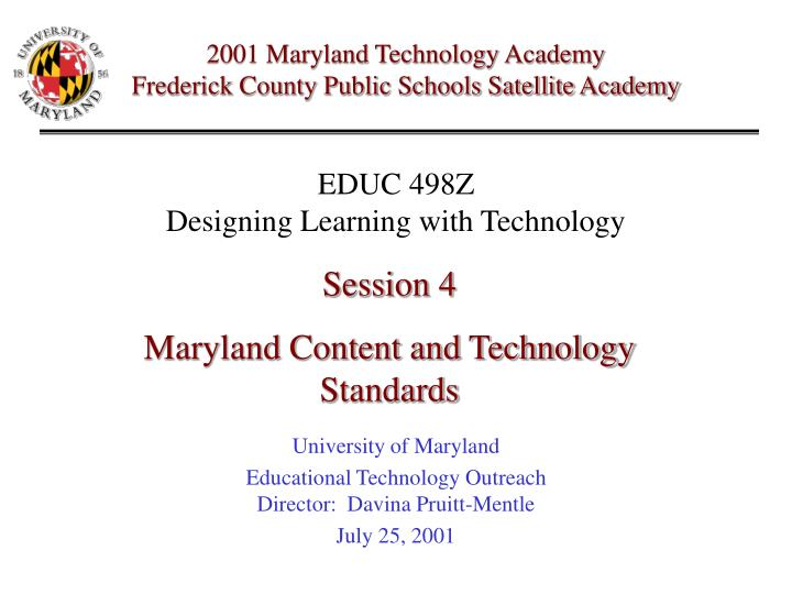 2001 Maryland Technology Academy