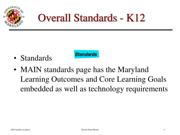 Overall Standards - K12
