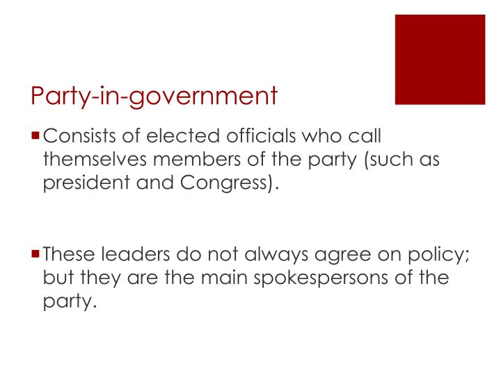 Party-in-government