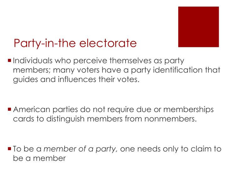 Party-in-the electorate