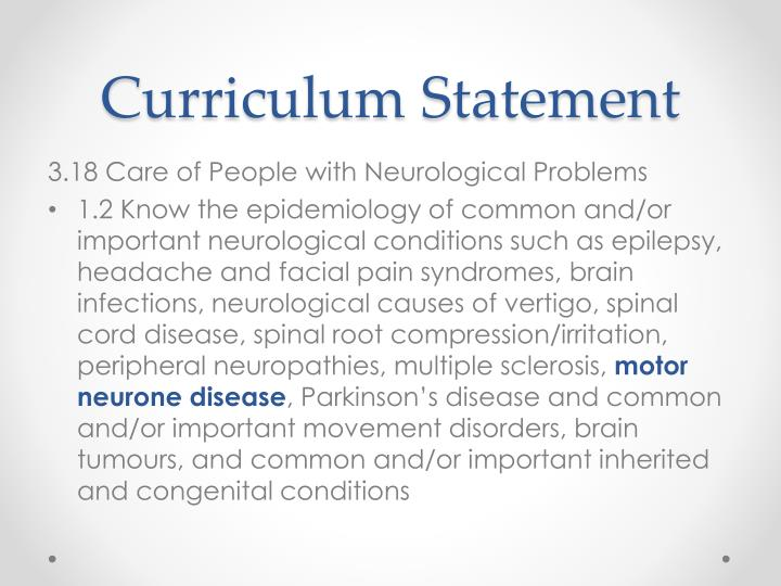 Curriculum Statement