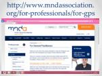 http www mndassociation org for professionals for gps