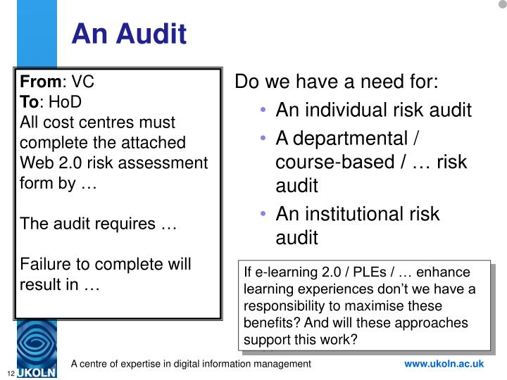 An Audit