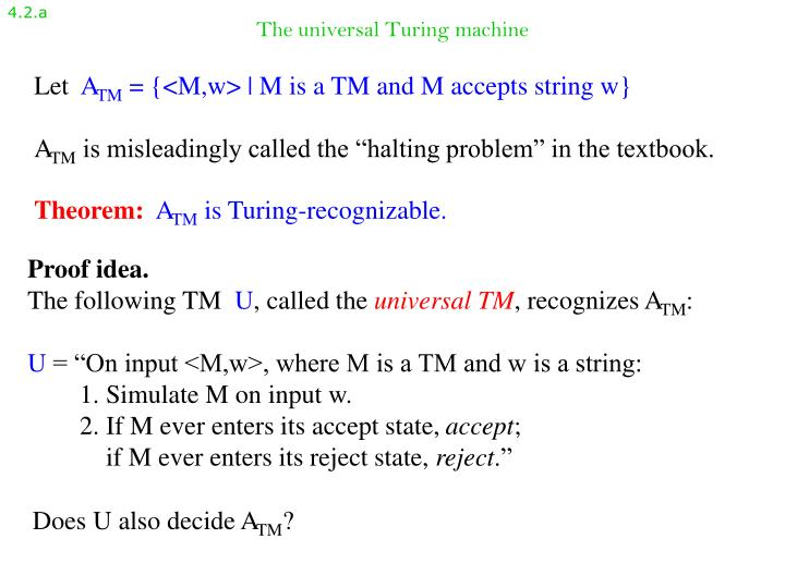 The universal turing machine1