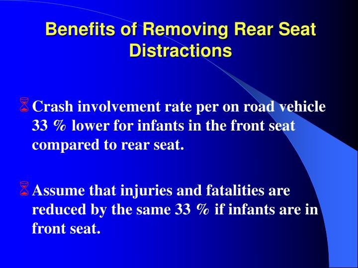 Benefits of Removing Rear Seat Distractions