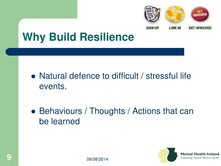 Why Build Resilience