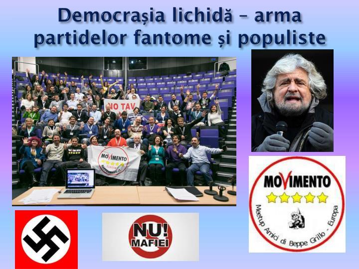 Democrașia lichidă – arma partidelor fantome și populiste