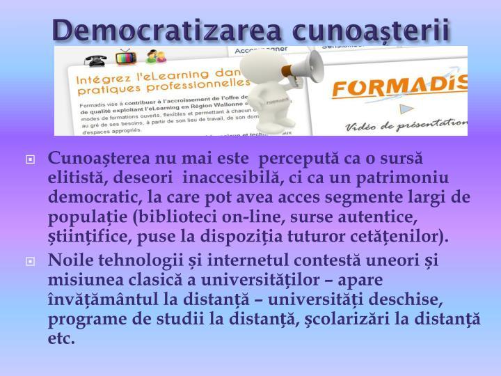Democratizarea cunoașterii