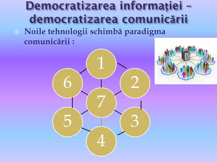 Democratizarea