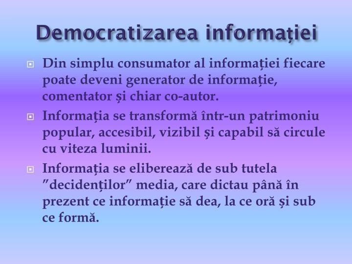 Democratizarea informației