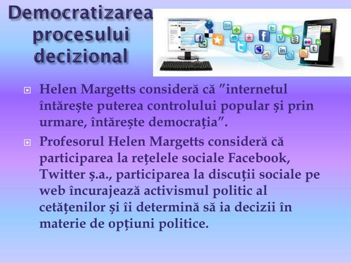 Democratizarea procesului decizional