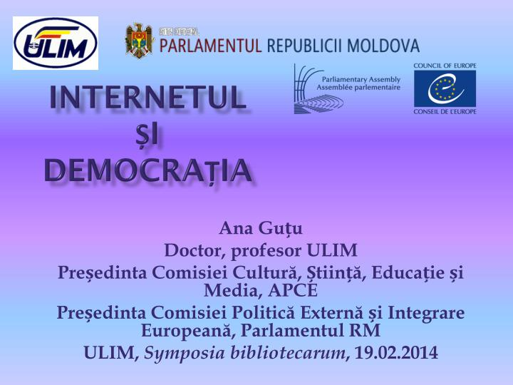 Internetul i democra ia
