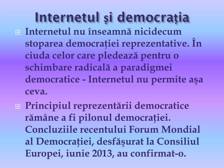 Internetul și democrația