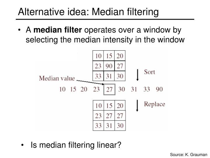 Alternative idea: Median filtering