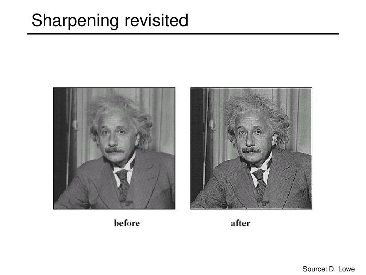 Sharpening revisited