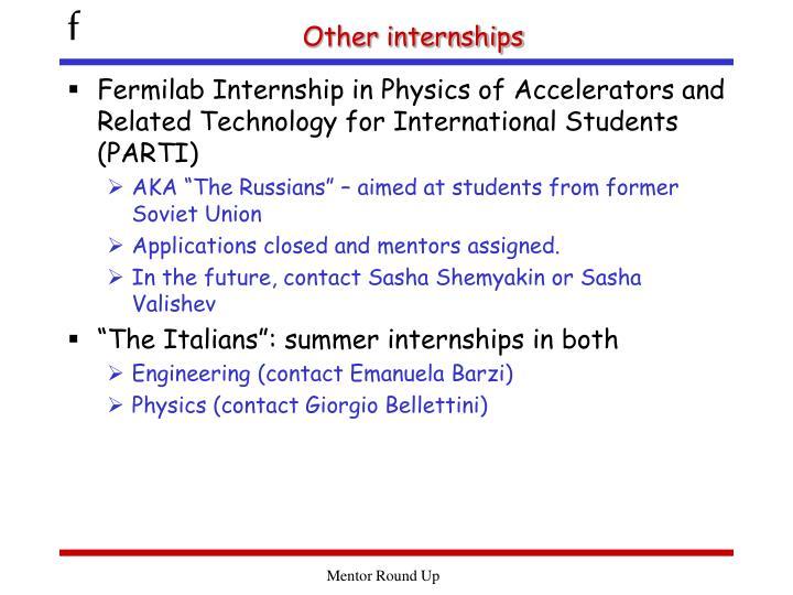 Other internships