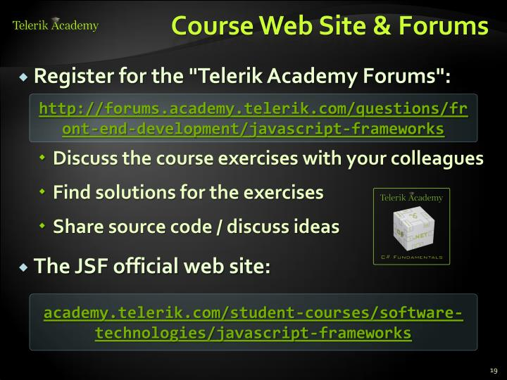 Course Web Site & Forums