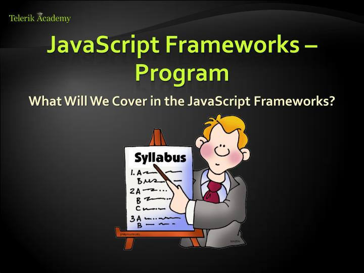 JavaScript Frameworks – Program