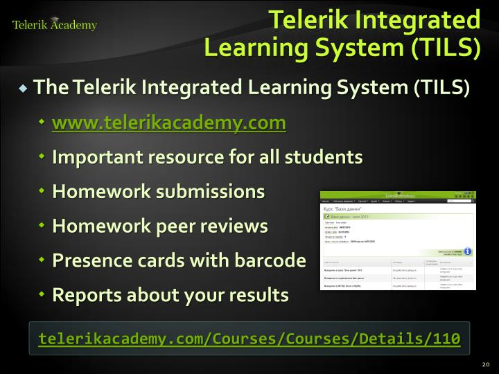 Telerik Integrated