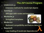 the jsf course program