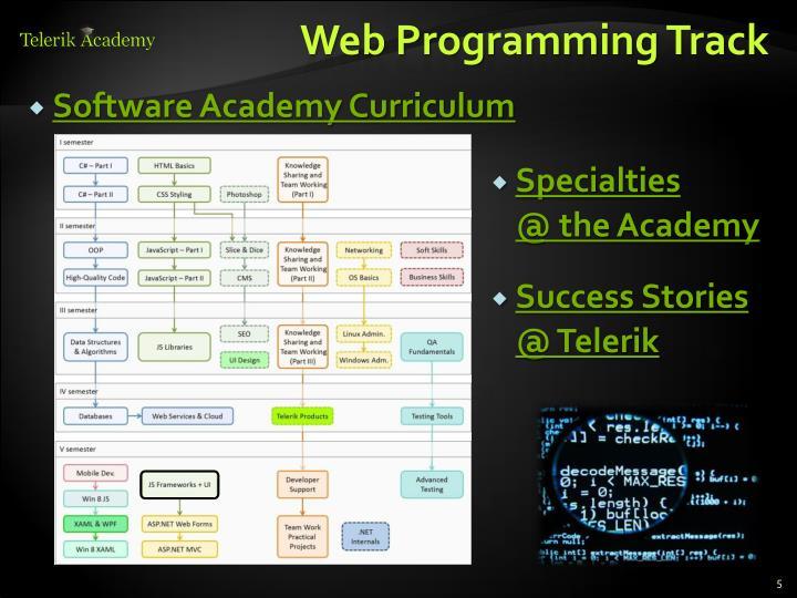 Web Programming Track