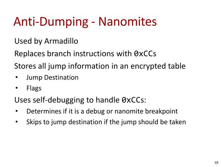 Anti-Dumping - Nanomites
