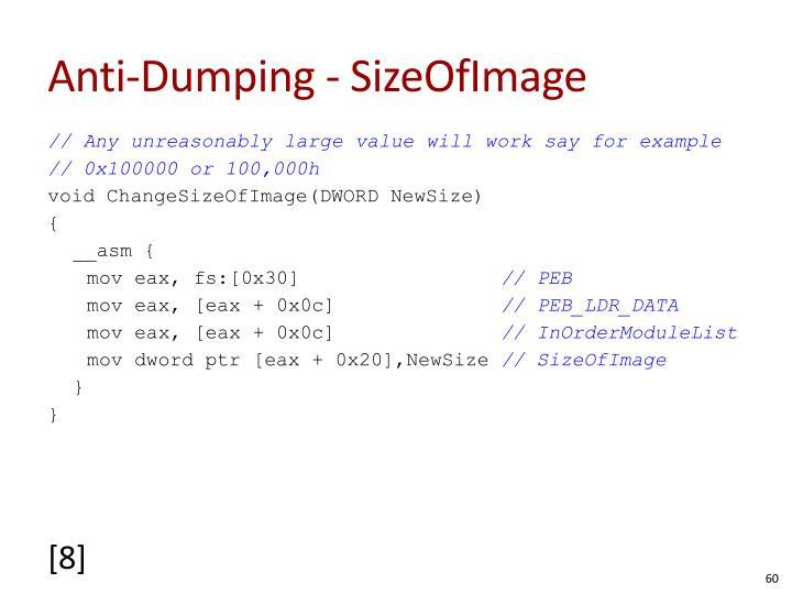Anti-Dumping - SizeOfImage
