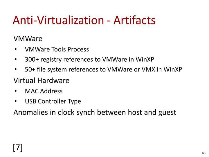 Anti-Virtualization - Artifacts