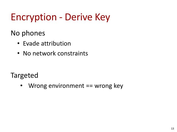 Encryption - Derive Key