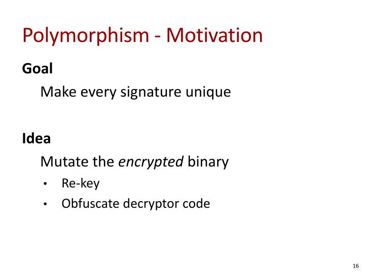 Polymorphism - Motivation