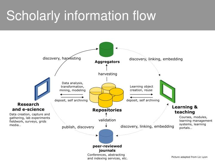 Scholarly information flow