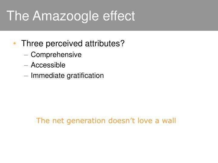 The Amazoogle effect