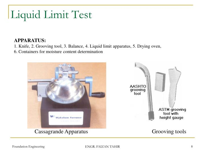 Liquid Limit Test