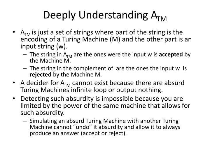 Deeply Understanding