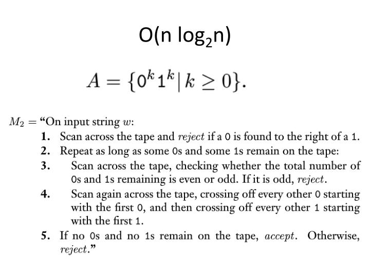 O(n log