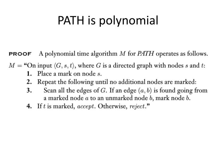PATH is polynomial