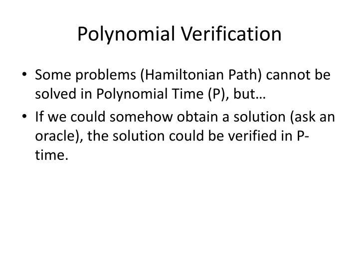 Polynomial Verification