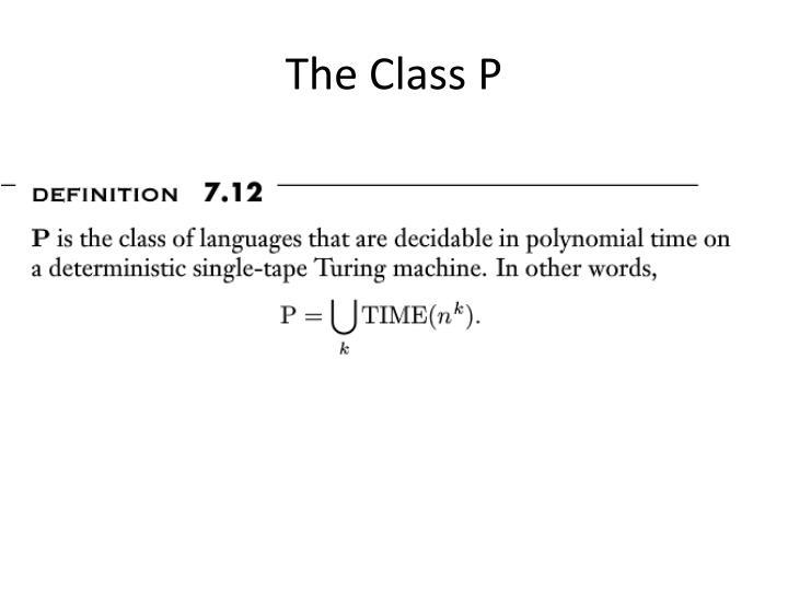 The Class P