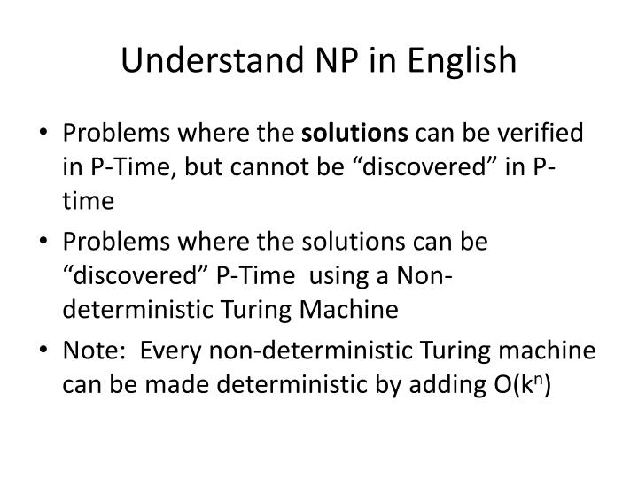 Understand NP in English