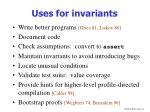 uses for invariants