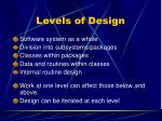 levels of design