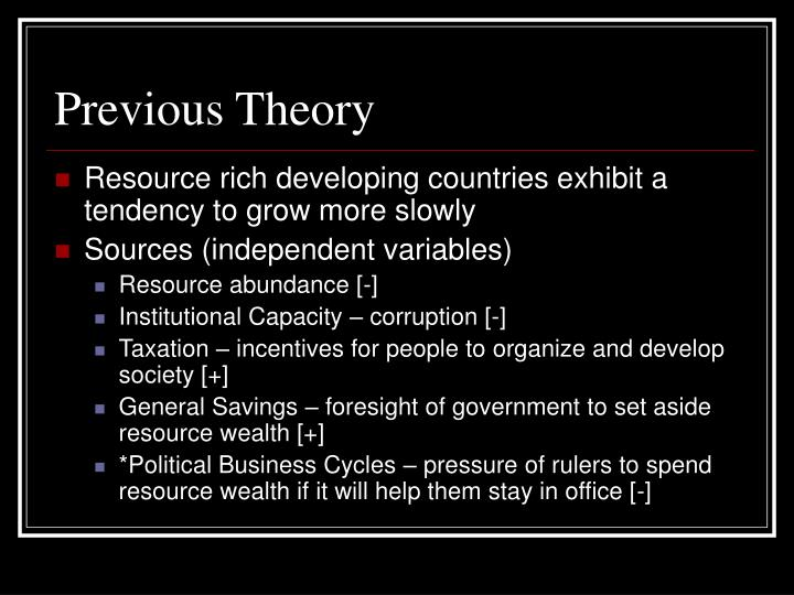 Previous Theory
