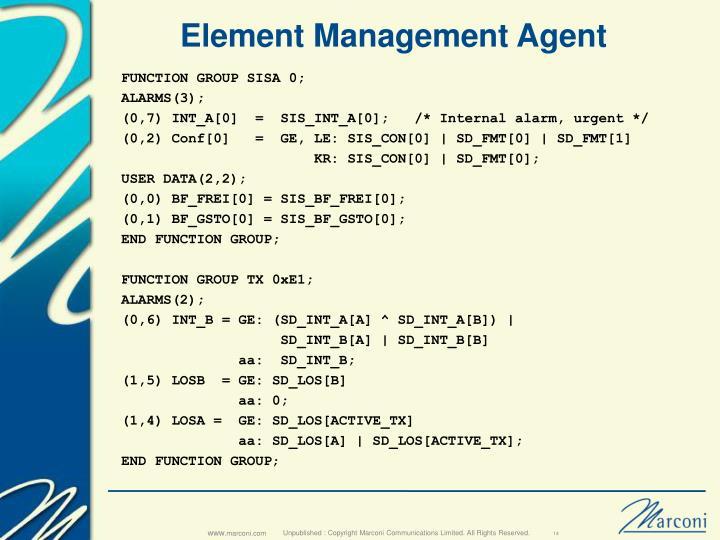 Element Management Agent